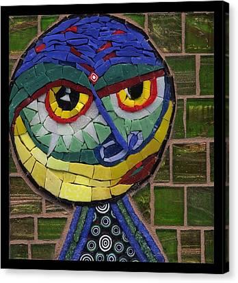 Companion To Klee - Fantasy Face No.15 Canvas Print