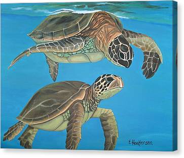 Companions Of The Sea Canvas Print by Elaine Haakenson