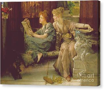 Female Canvas Print - Comparison by Sir Lawrence Alma-Tadema
