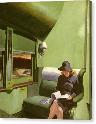 Traveller Canvas Print - Compartment C by Edward Hopper