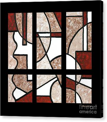 Compartments Six Panels Canvas Print by Diane Thornton