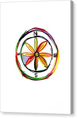 Compass Canvas Print by Sweeping Girl