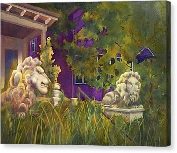 Complaining Lions Canvas Print