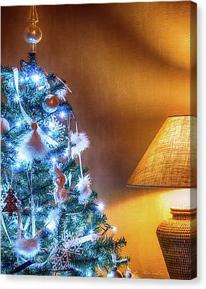 Complementary Christmas Tree Canvas Print by Wim Lanclus