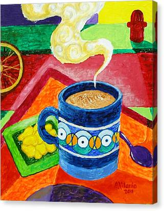 Complementary Coffee 2 Canvas Print by Paul Hilario