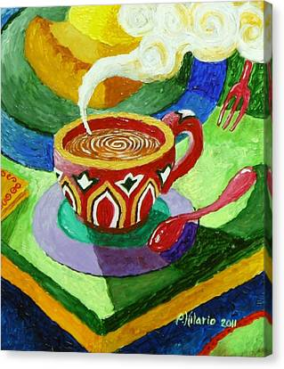 Complementary Coffee 3 Canvas Print by Paul Hilario