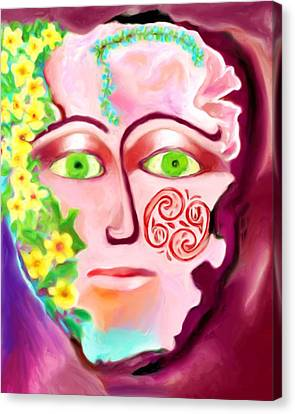 Canvas Print featuring the painting Complete - A Mask by Shelley Bain
