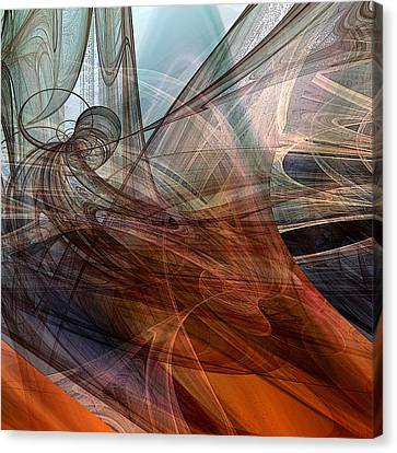 Abstract Digital Canvas Print - Complex Decisions by Ruth Palmer