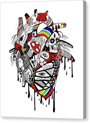 Canvas Print - Complex Pride Heart by Kenal Louis