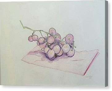 Complimentary Grapes Canvas Print