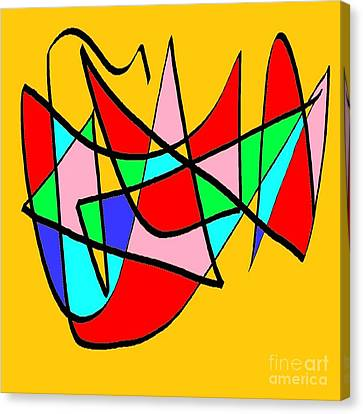 Composicion Multicolor Canvas Print