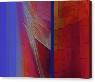 Canvas Print featuring the digital art Composition 0310 by Walter Fahmy