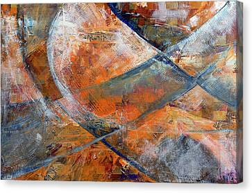 Canvas Print featuring the painting Composition Hieroglyphe by Walter Fahmy