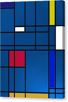 Composition M Over Blue Canvas Print by Alberto RuiZ
