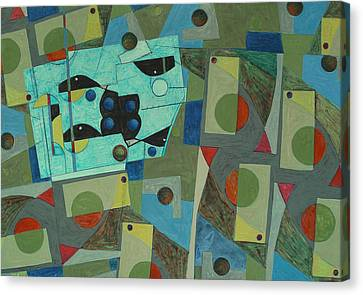 Composition Xxv 07 Canvas Print by Maria Parmo