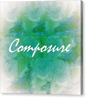 Teal Canvas Print - Composure by Eloise Schneider