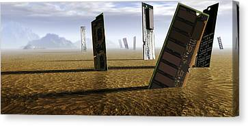 Computer Circuit Board Graveyard Canvas Print by Tim Vernonlth Nhs Trust