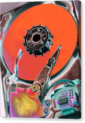 Computer Hard Disc Canvas Print by Mark Sykes