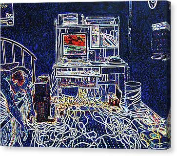 Computers And Wires Canvas Print