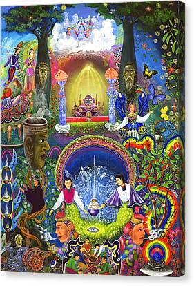 Ayahuasca Visions Canvas Print - Concentracion Palistica by Pablo Amaringo