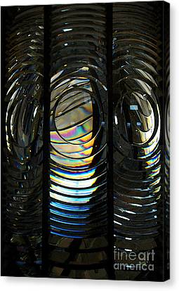 Concentric Glass Prisms - Water Color Canvas Print by Linda Shafer