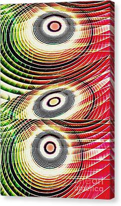 Concentric Rings 3 Canvas Print by Sarah Loft