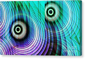 Concentric Rings 4 Canvas Print by Sarah Loft