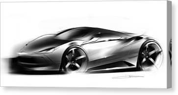 Concept Sportscar  Canvas Print