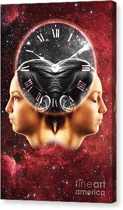 Conceptual Illustration Of Circadian Canvas Print by George Mattei