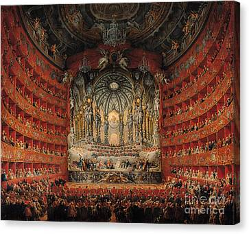 Concert Given By Cardinal De La Rochefoucauld At The Argentina Theatre In Rome Canvas Print