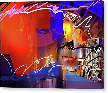 Canvas Print featuring the digital art Concert Stage by Walter Fahmy
