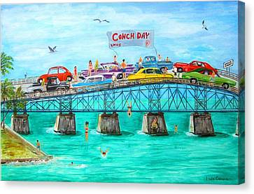 57 Chevy Canvas Print - Conch Day by Linda Cabrera