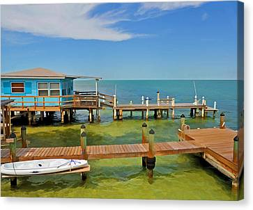 Conch Key Blue Cottage 3 Canvas Print