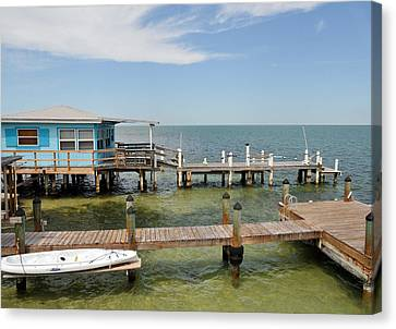 Conch Key Blue Cottage Canvas Print