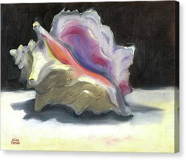 Canvas Print featuring the painting Conch Shell by Susan Thomas