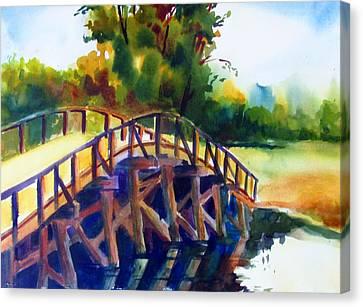 Concord Bridge Canvas Print by Linda Emerson