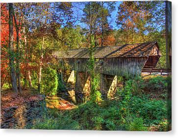 Grist Mill Canvas Print - Concord Covered Bridge Nickajack Creek Art by Reid Callaway