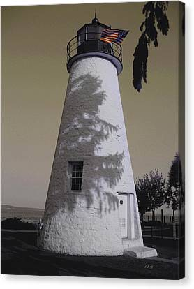 Concord Point Light Canvas Print by Gordon Beck