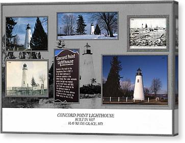 Concord Point Lighthouse Collage Canvas Print