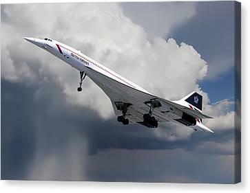 Concorde London Heathrow Canvas Print
