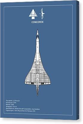 Concorde Canvas Print by Mark Rogan