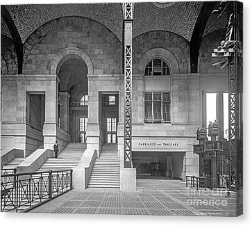 Concourse Exit To 33rd St Canvas Print by Russ Brown