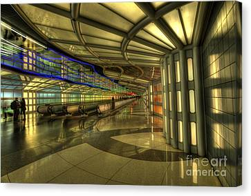 Concourse Pedway Canvas Print by David Bearden