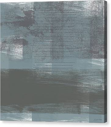 Concrete 1- Contemporary Abstract Art By Linda Woods Canvas Print by Linda Woods