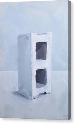 Monotone Canvas Print - Concrete Block by Jeffrey Bess