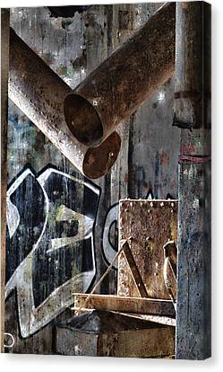 Concrete Central 8 Canvas Print by Chuck Alaimo