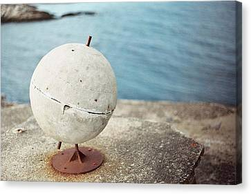 Concrete Globe Canvas Print by Gregory Barger