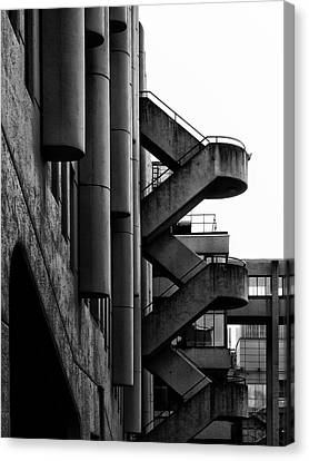 Concrete Stairways Canvas Print by Philip Openshaw