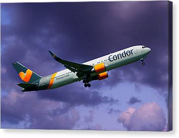 Condor Canvas Print - Condor Boeing 767-3q8 by Nichola Denny
