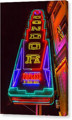 Condor Neon Canvas Print by Garry Gay